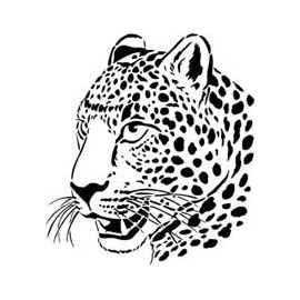 Šablona gepard  A4