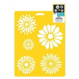 Šablona na textil - daisies