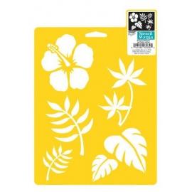 Šablona na textil - tropical plants