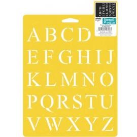 Šablona na textil - times alphabet