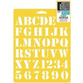 Šablona na textil - basic alphabet