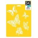 Šablona na textil - butterflies
