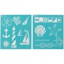 Šablona na textil - nautical study
