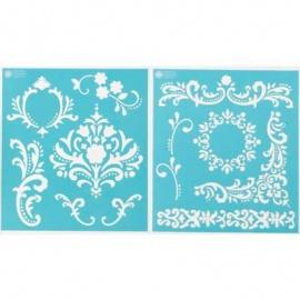 Šablona na textil - flourish
