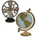 Vyřezávací šablona vysoká na magnetu -  globus