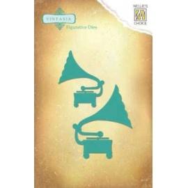 Vyřezávací šablona - gramofón