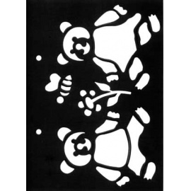 Šablona medvídci 15*21 cm IC