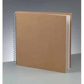 Album na Scrapbook 30*30 - natur, bílé listy Rayher