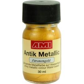 Antik mettalic 30 ml - citronově zlaté