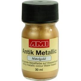 Antik mettalic 30 ml - středně zlaté