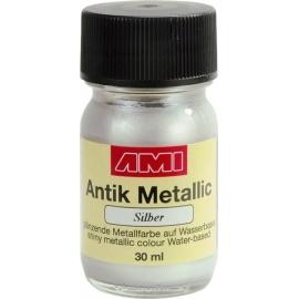 Antik mettalic 30 ml - stříbrná