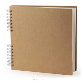 Kroužkový blok DE LUX - A5 - bílý papír