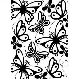 Embossová kapsa motýli II