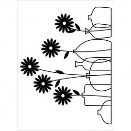 Embossová kapsa kytky ve váze