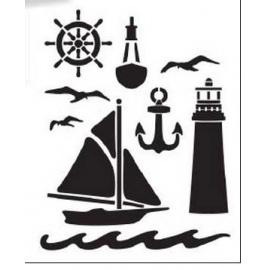Šablona nautical A4