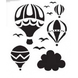 Šablona balony A4