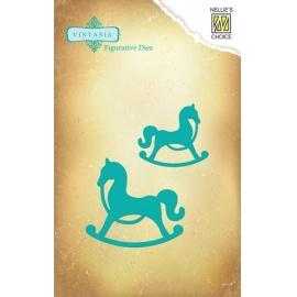Vyřezávací šablona houpací kůň