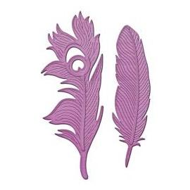 Vyřezávací šablona - paví peří