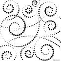 Šablona tečkované smyčky 25*25 cm