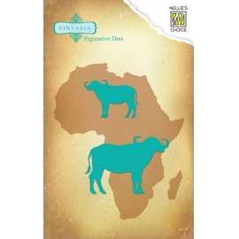 Vyřezávací šablona bizon