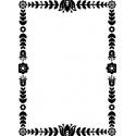 Embossová kapsa ozdobný rám