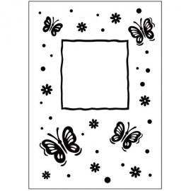 Embossovací kapsa rámeček a motýlci