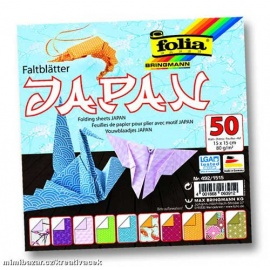 "Origami papír ""JAPONSKO"" - 80 g/m2 - 15 x  15 cm 50 listů"