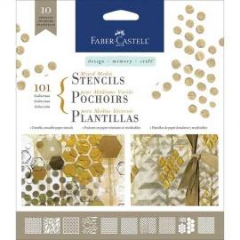 Šablony 10 ks - Faber castell -  basis