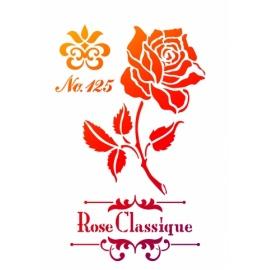 Šablona na textil A4 - Růže