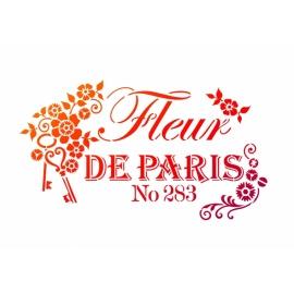 Šablona na textil A4 - Fleur de Paris