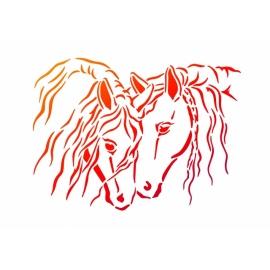 Šablona na textil A4 - Koně