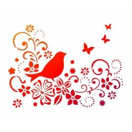 Šablona na textil A4 - Ptáček