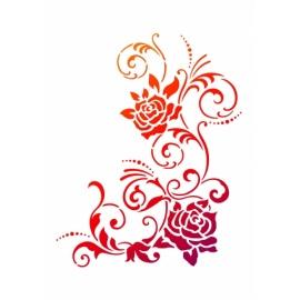 Šablona na textil A4 - Květ