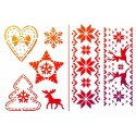 Šablona na textil A5 -advent