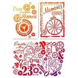 Šablona na textil A4 - Pánské motivy