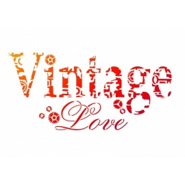 Šablona na textil A4 - Vintage
