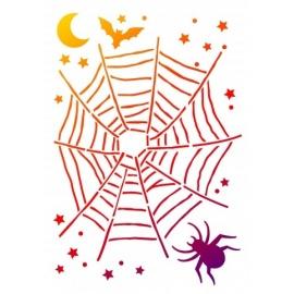 Šablona na textil A4 - Pavoučí síť