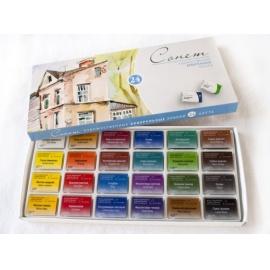 Sada akvarelových barev Sonnet 24 ks
