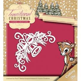 Vyřezávací šablona vánoční roh