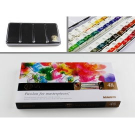 Sada akvarelových barev Watercolor 48 ks v kovové krabičce