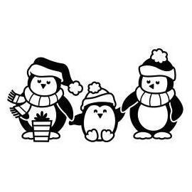 Embossovací kapsy tučňáci
