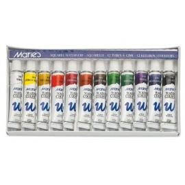 Maries akvarelové barvy v tubách 12*12 ml