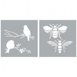 Šablona bees and birds