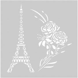 Šablona eifelovka a růže