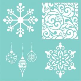 Šablona vánoční motivy