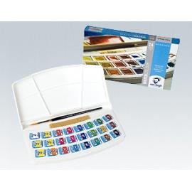 Sada akvarelových barev VanGogh 24 x 1/2 panviček