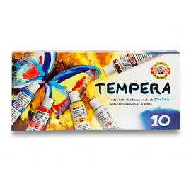 Temperové barvy sada 10*16 ml  Koh-i-noor