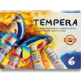 Temperové barvy sada 6*16 ml koh-i-noor