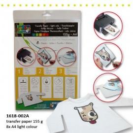 Transférový papír pro fotky na světlý textil - 8xA4