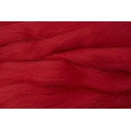 Merino ovčí rouno 018 - 10 gr.  sytě červená